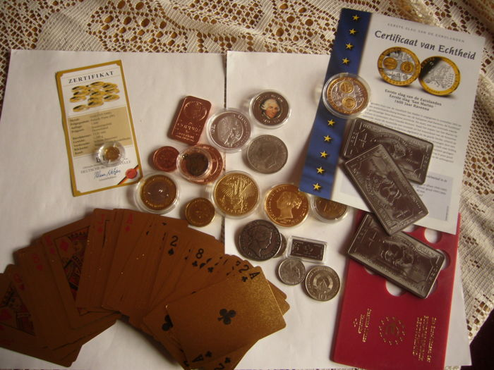 1,224 grams coin Germany gold 585/1000 + coin silver and gold 999/1000 saint Marin  + a lot of coin and bullion