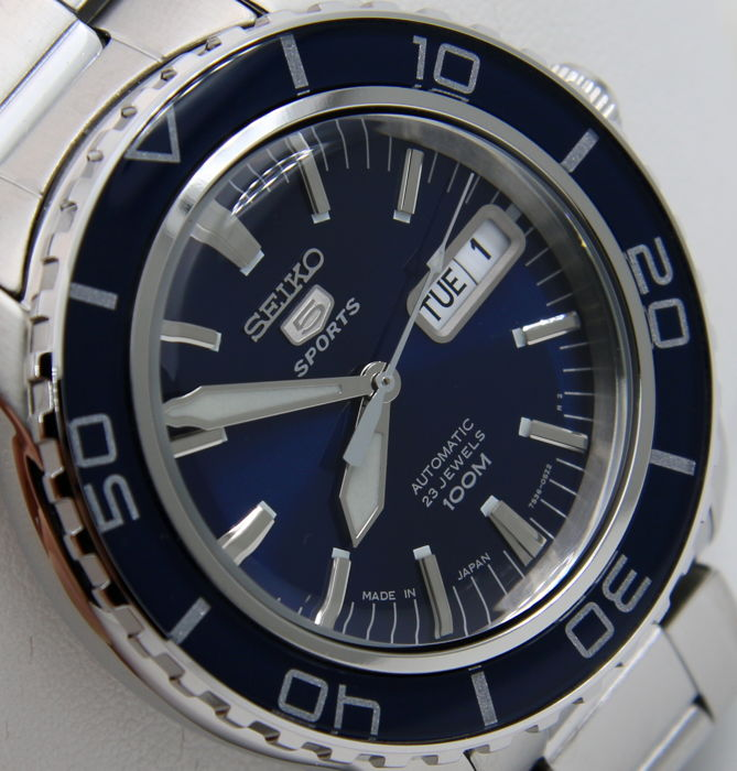 "Seiko - Automatic 23 Jewels ""50 Fathoms"" Blue - - Made in japan - - Homem - 2018"