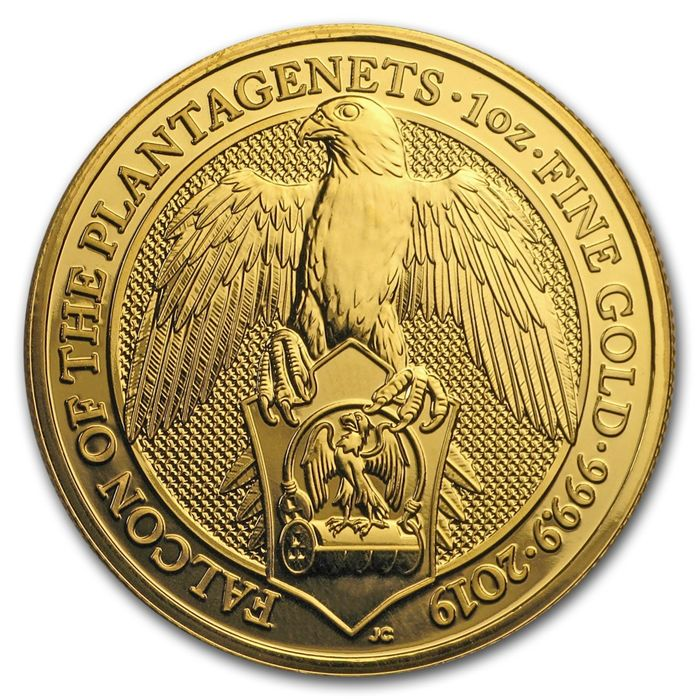 United Kingdom - 100 Pounds 2019 Falcon of the Plantagenets - 1 oz - Gold