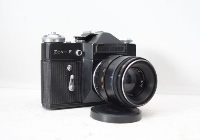 black zenit e russian camera with helios 44 2 2 58 lens catawiki