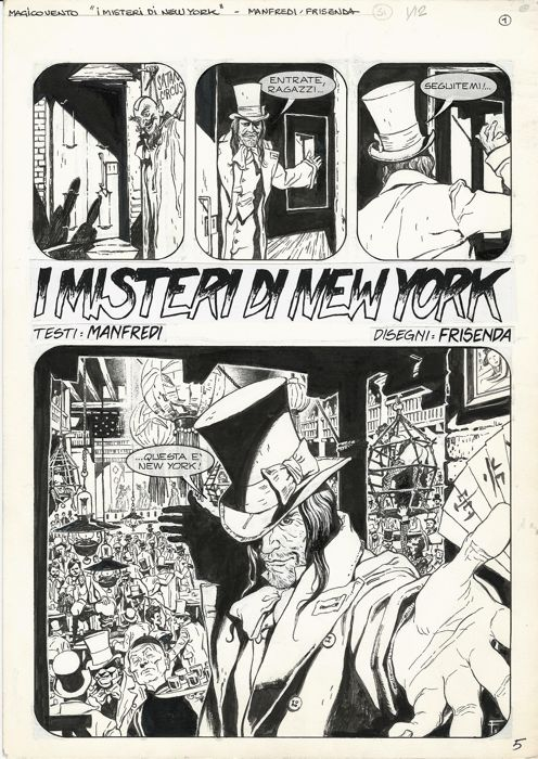 Magico Vento #91 - Pasquale Frisenda - original splash page - First edition - (2004)