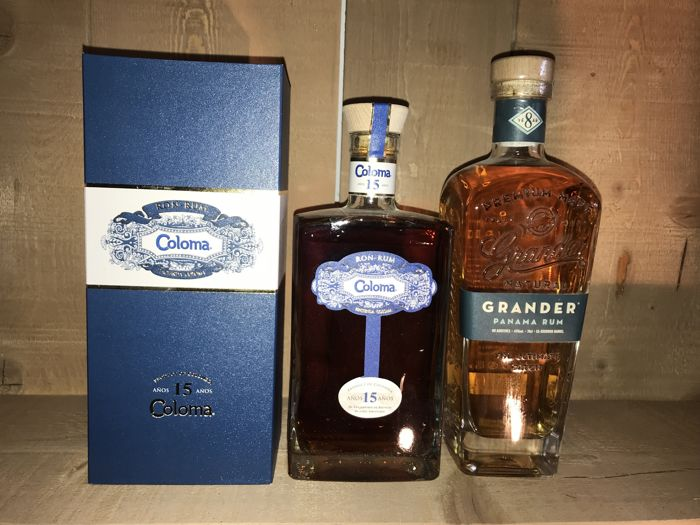 Coloma 15 years old & Grander 8 years old - 70cl - 2 bottles