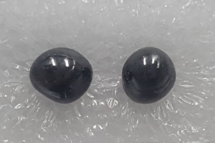 2 pcs Diamanten - 3.50 ct - Diamant-Perlen-Form - Black - I2