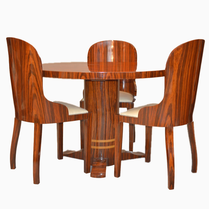 Deco style furniture Famous Near Set Dining Table With Chairs Art Deco Style Wood Rosewood 123rfcom Near Set Dining Table With Chairs Art Deco Style Wood Rosewood