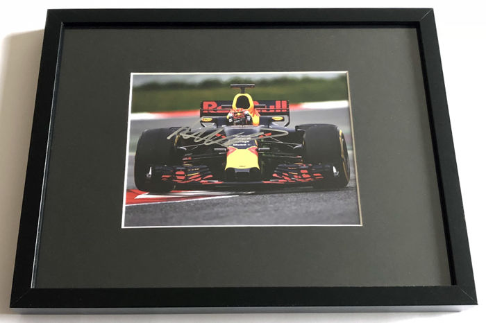 Framed Photo Authentic And Personally Hand Signed By Max Verstappen