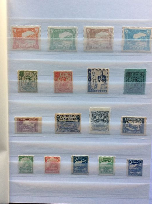 Spain 1936/1939 - Collection 200 Spanish Civil War stamps, Nationalist Zone - Edifil