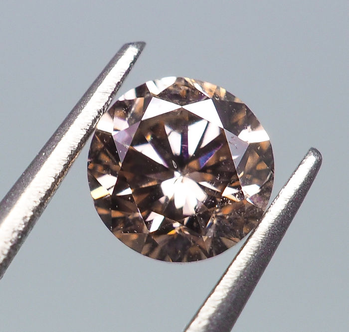Diamante - 0.23 ct - Natural Fancy Pinkish Brown - SI2 - *NO RESERVE*