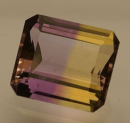 Ametrine, bi-coloured: violet/ brownish-yellow , 4.40ct  NO RESERVE
