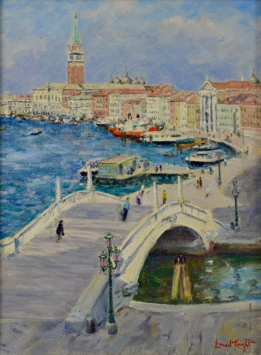 Ernest Knight (1915-1995) - A View of Venice