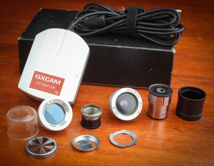 Nice lot  Microscope Optics and Accessories including a camera