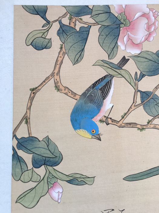Painting on silk - China, second half of the 20th century