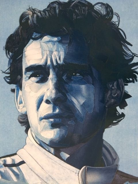 Decoratief object - In Denim Portret of Ayrton Senna - XL Glicée - 2018 (1 items)