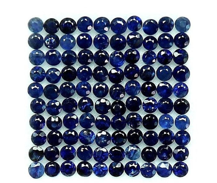 Sapphire 4.50 ct overall - 50 pieces