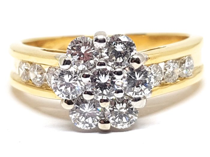 18 karaat Tweekleurig - Ring - 2.00 ct Diamant