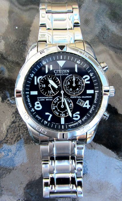 Citizen - Eco Drive Military Perpetual Chronograph Alarm - BL5470-57L 200wr - Heren - 2011-heden