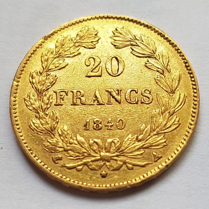 France - 20 Francs 1840-A Louis Philippe I - gold