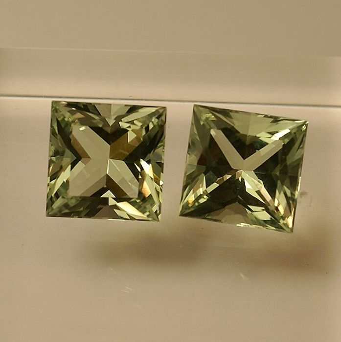 2 Prasiolite - total 8.12 ct   NO RESERVE