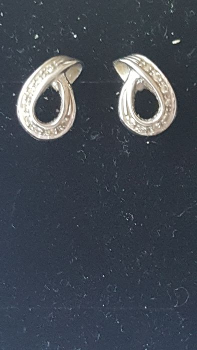 Earrings - White gold - Diamond
