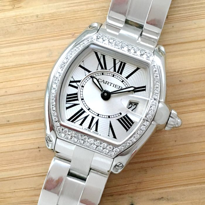 Cartier - Roadster Diamonds Bezel - 2675 - Unisex - 2000-2010