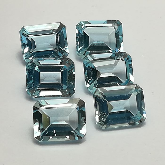 Lote de 6 Topacios Sky Blue - 25.44 ct