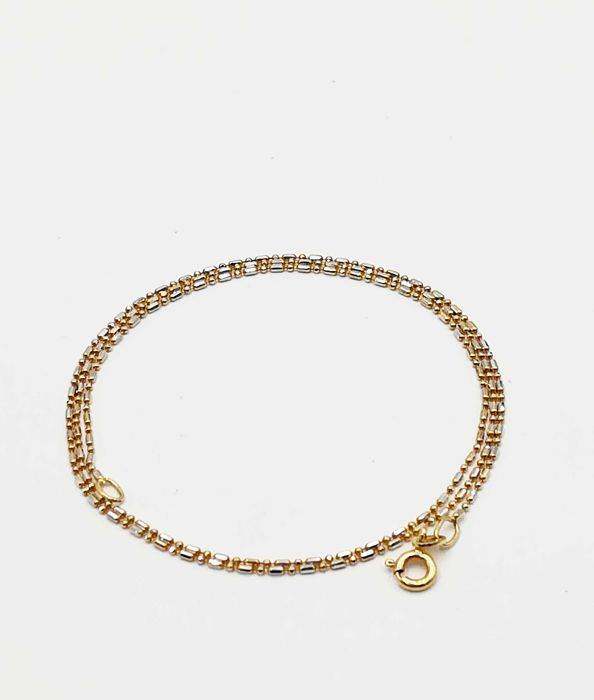 18 kt yellow and white gold choker necklace, length 45.00 cm, total weight 2.07 g