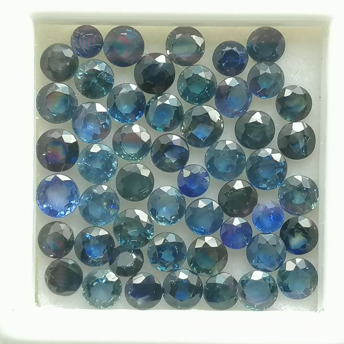 Lot of 50 Blue Sapphires - 8.36 ct