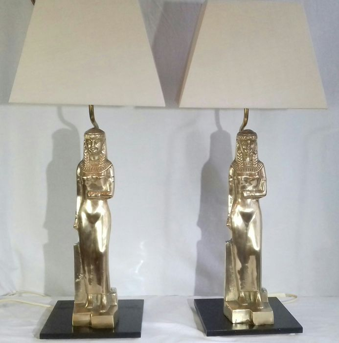 regina - Pair Egyptian lamps Candeeiro