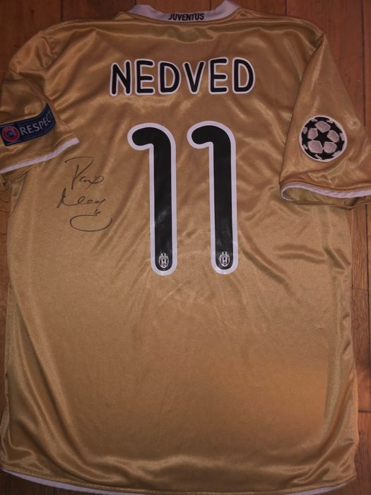 wholesale dealer 07dd2 320dd Pavel Nedved Signed Juventus Champions League Shirt With ...