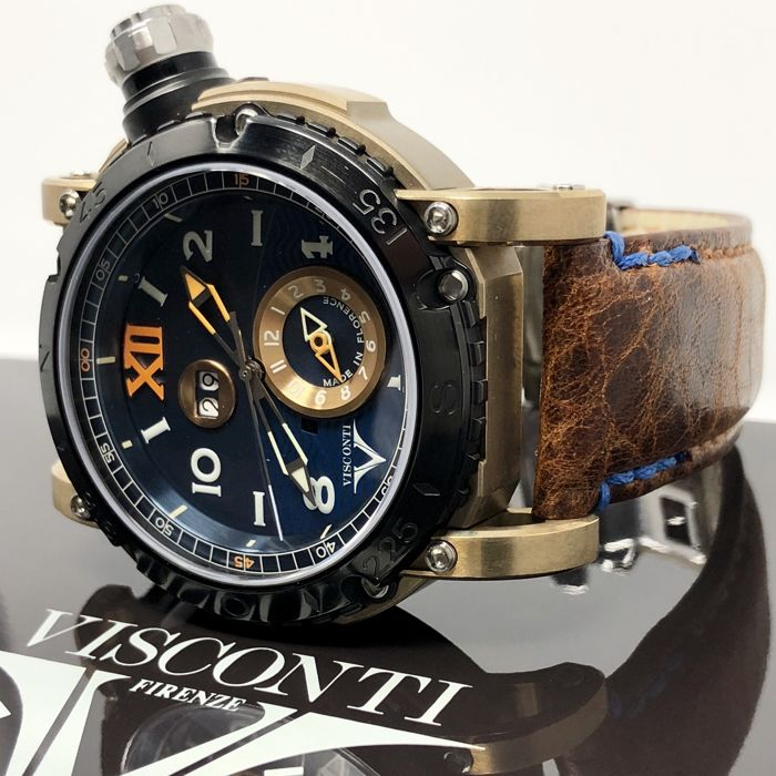 "Visconti - Automatic Grand Cruise Final Edition GMT Bronze LIMITED EDITION of 69 - KW31-02 ""NO RESERVE PRICE"" - Heren - NEW"