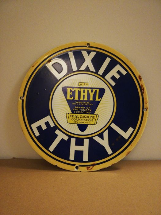 Dixie enamelled sign