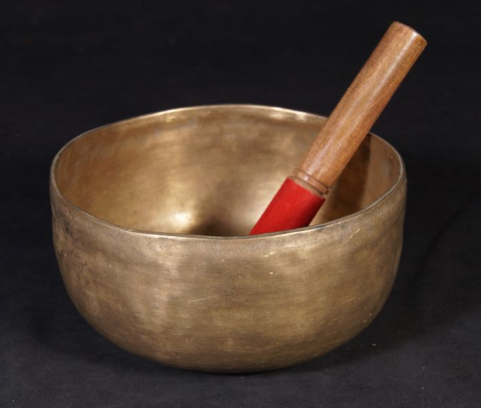 Bronze singing bowl from Nepal Early 21st century