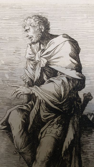 Tre incisioni da Salvator Rosa  (1615 - 1673) - Diverse figure