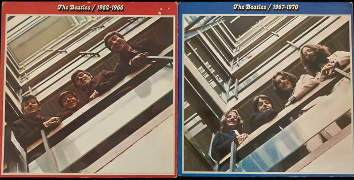 The Beatles The Red and The Blue Album Complete Set (with - Catawiki