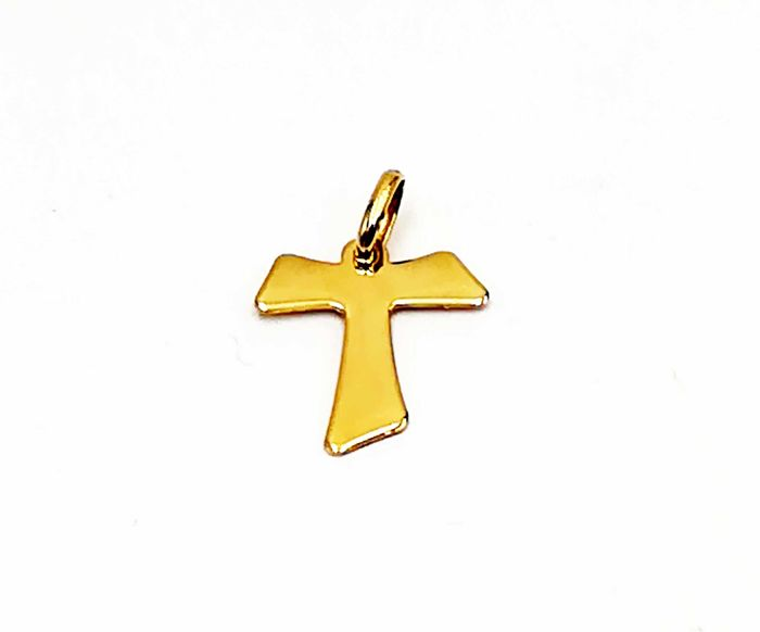 STELLA - Cross pendant in 18 kt yellow gold, length: 2.00 cm, total weight: 1.64 g