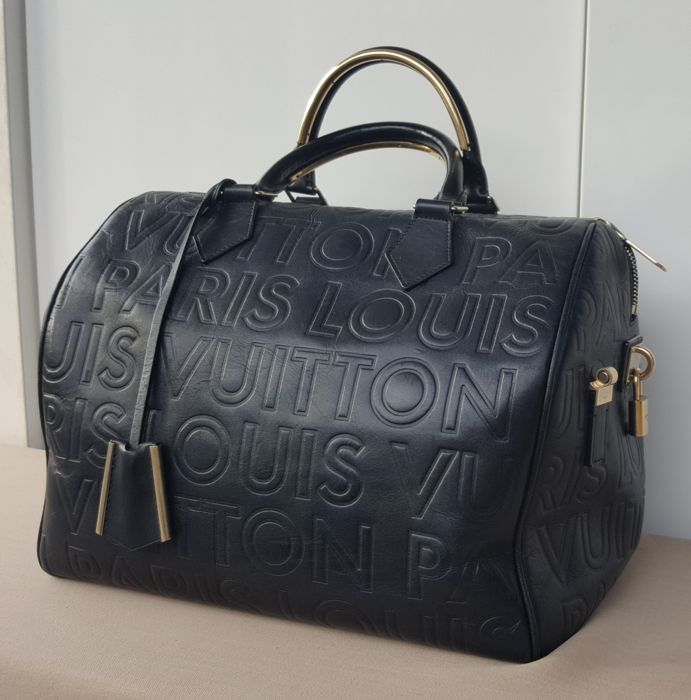 Louis Vuitton - Limited Edition Embossed Leather Speedy Cube 30 Handbag 052a01f79c