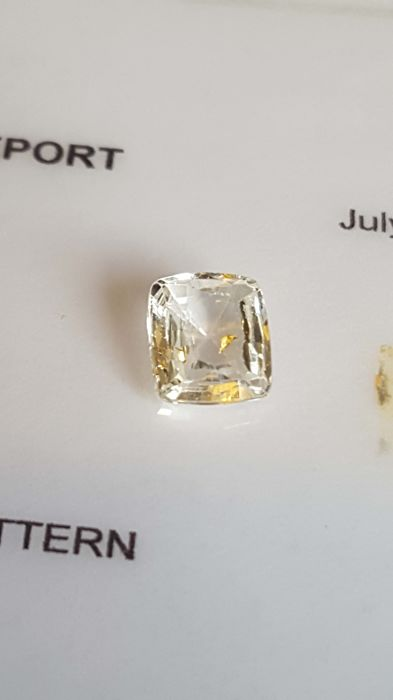 Yellow Sapphire .1.44ct Light yellow colour