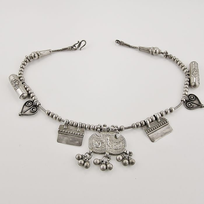 Necklace in 925 silver - India - middle of the 20th century