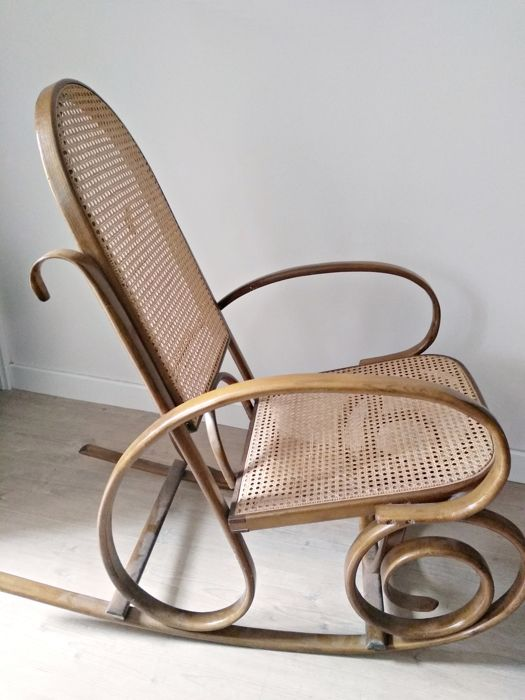 Superb Turning Wooden Rocking Chair In One Piece Thonet Style Ibusinesslaw Wood Chair Design Ideas Ibusinesslaworg