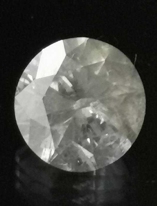 1,57 ct Big Diamond I1/K ** no reserve price **