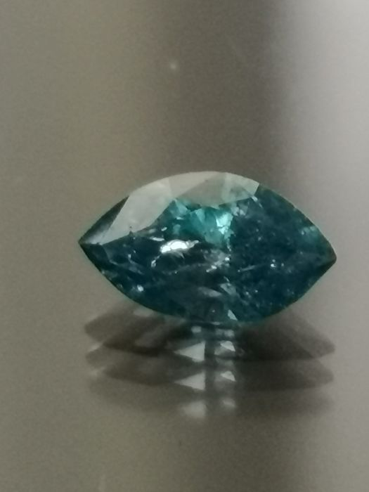 0,53 ct Diamond  Fancy Vivid Blue I1 ** no reserve price **