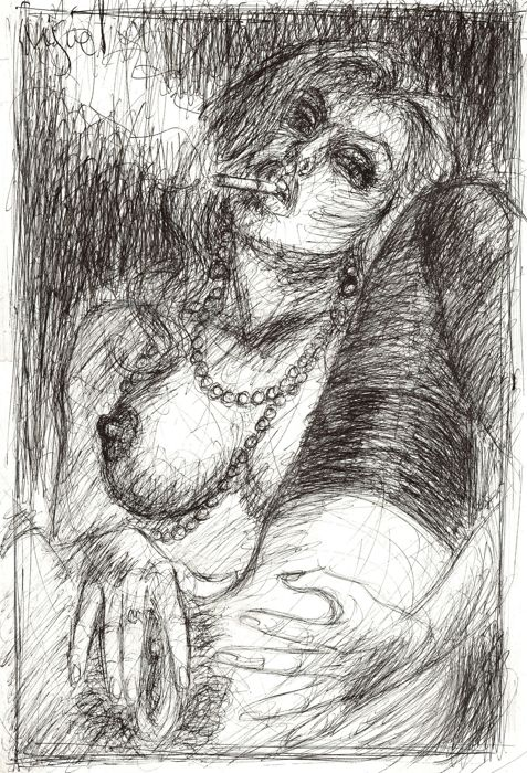 Fuster, Miquel - Original drawing - Pleasures of Cigarettes
