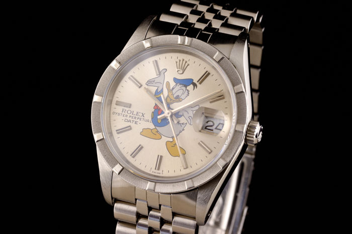 Rolex - Oyster Perpetual Date With Donald Duck - 15210 - Men - 1980-1989