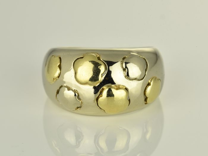Gold ring of 18 kt  Size: 55 (17.5 mm in diameter)