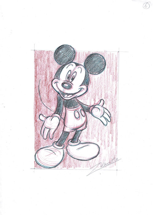 Lovable Mickey  - Original Sketch - Z. Vendetta - First edition