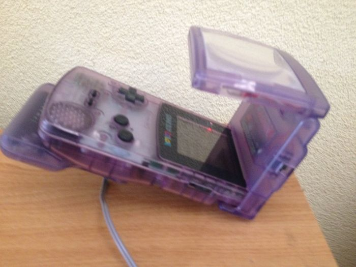 Gameboy Color Atomic Purple Light Screen 4 Player Link Cable Adapter Handbag 30 Color And Gameboy Games 2 Games In Box Catawiki