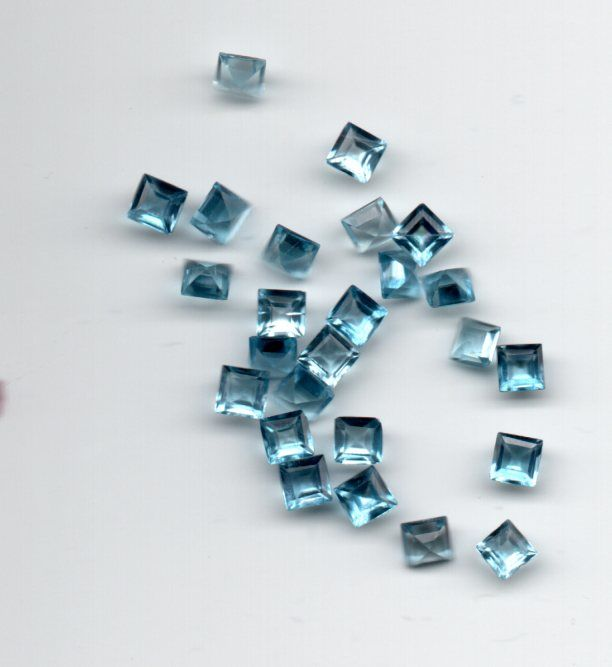 Zircon   Blue -  4.32 cts total - 25 pcs