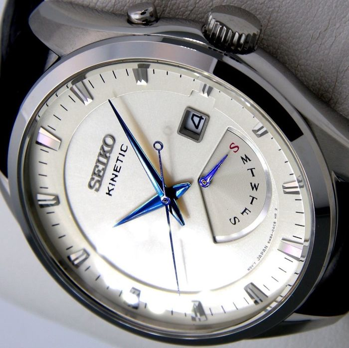 "Seiko - Kinetic 100M ""Blue Hands"" - New-""NO RESERVE PRICE"" - Hombre - 2011 - actualidad"