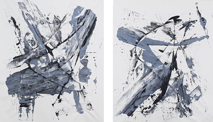 Parscha Mirghawameddin - Abstract N°970 (Diptych)