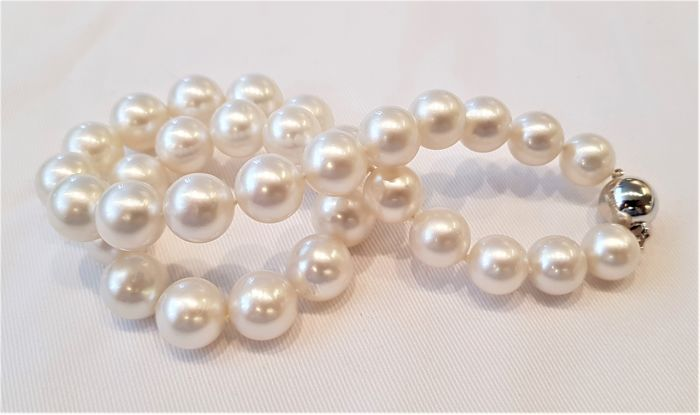Ketting - Wit goud-11,6-13,6 mm-South Sea Pearls