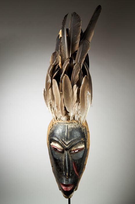 Guro Mask with Feather Headdress